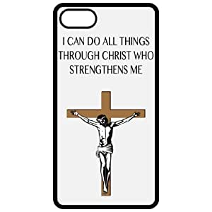 I Can Do All Things Through Christ Who Strengthens Me - Religious - Religion Black Iphone 4 - Iphone 4s Cell Phone Case - Cover 53