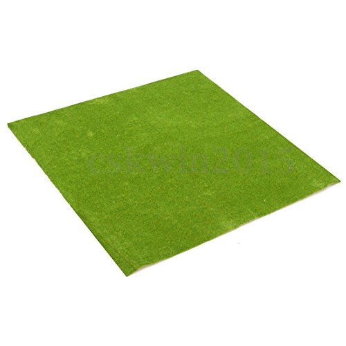 Table Playboard Train - SODIAL(R) 50x50cm Landscape Grass Mat Model Train Adhesive Paper Scenery Layout Lawn