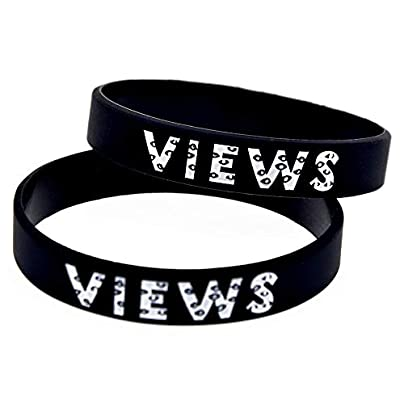 Relddd Silicone Wristbands With Sayings Drake Views From The Band Rubber Wristbands For Men And Kids Motivation Set Pieces Estimated Price £24.99 -