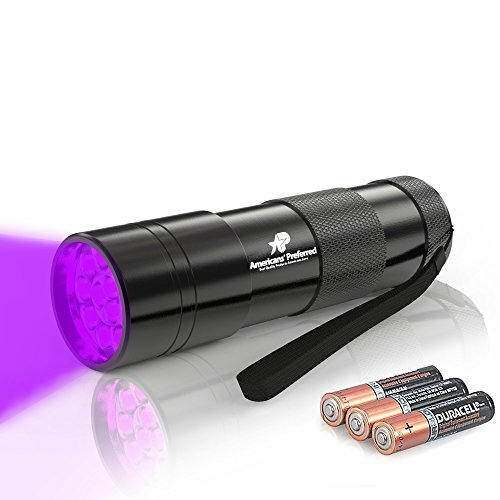 [365nm Ultraviolet Flashlight, 12-LED UV Light Perfect as Friend Finder Scorpions and Urine Remover, Black Light for Hotels Rooms Inspection and Carpet Repair, 6-Month Guarantee by Americans'] (Where Does Halloween Come From)