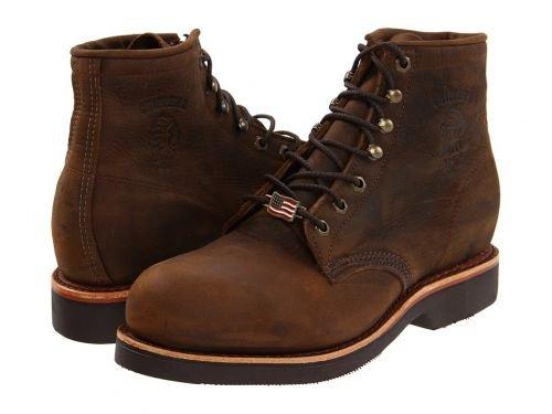 Chippewa(チペワ) メンズ 男性用 シューズ 靴 ブーツ 安全靴 ワーカーブーツ 6  Apache Steel Toe Lace Up Chocolate [並行輸入品] B07DNR3ZVC  8 D Medium