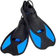 """Swimming Fins Kids Short Diving Fins Training for Children Boy Girl size XXS Width Ankle 2.5"""" with Thermo"""