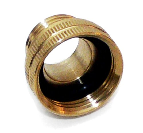 Underhill A-BA107FM Solid Brass Hose Adapter, Converts 3/4-Inch Attachments to 1-Inch Hose, 1-Inch FHT by 3/4-Inch MHT (Field Hose)