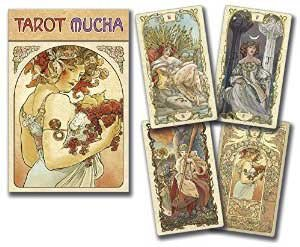 Party Games Accessories Halloween Séance Tarot Cards Tarot Mucha by Massaylia & Dosenzo by AzureGreen