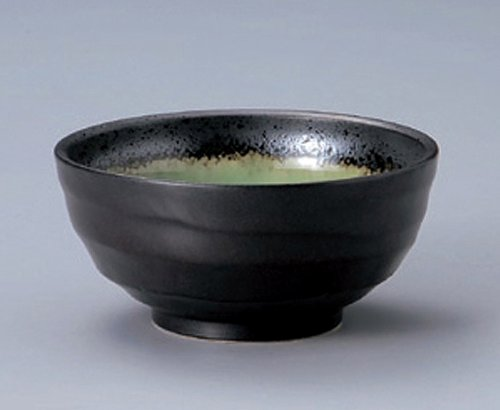 MINO-YAKI DEEP-SEA-GREEN Jiki Japanese Porcelain Rice-Bowl made in JAPAN watou.asia