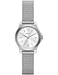 DKNY Womens Parsons Quartz Stainless Steel Casual Watch, Color:Silver-Toned (Model: NY2488)