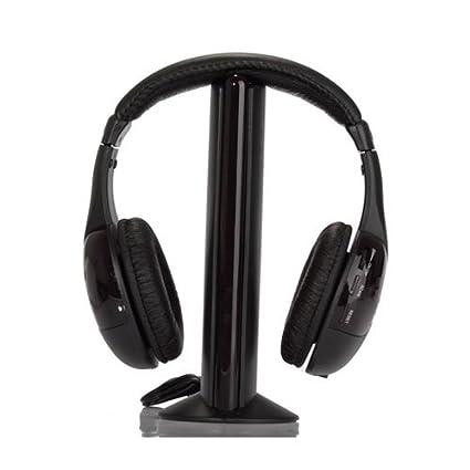 TOOGOO(R) Auriculares de diadema inalambricos para HDTV, TV, VCD, PC
