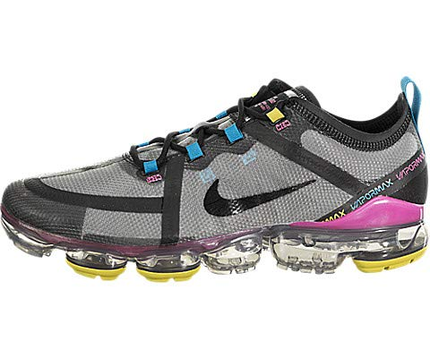 Nike Men's Air Vapormax 2019 Moon Particle/Black/Pink Blast Synthetic Casual Shoes 11.5 M US