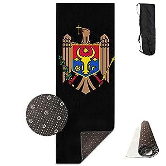 Amazon.com: Workout Mat for Yoga, Moldova Coat of Arms