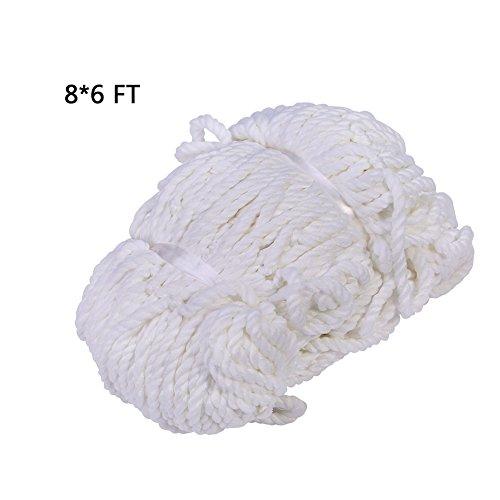 VGEBY Soccer Goal Net, Full Size, 6 x 4ft / 8 x 6ft / 12 x 6ft for Training Practice Match Training (Size : 86)