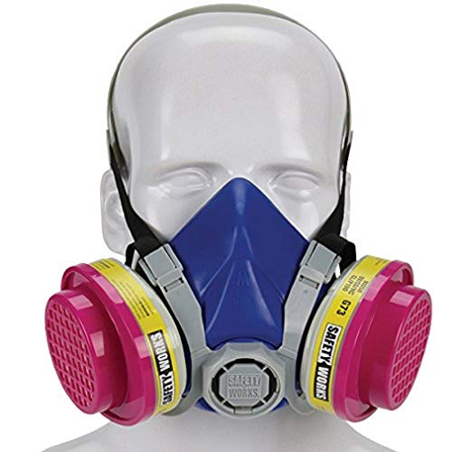 Half Plus Mask Respirator - Safety Works SWX00320 Multi-Purpose Respirator