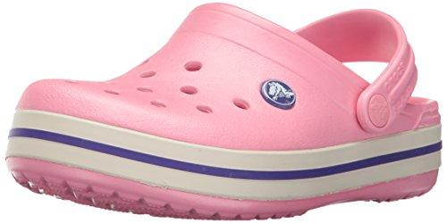 Virtual Pink Apparel - Crocs Kids' Crocband Clog, Peony Pink/Stucco, 1 M US Little Kid