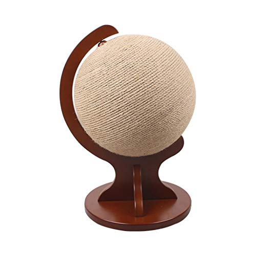 (Yingui Cat Scratching Plate Claw Sisal Wear Solid Wood Cat Climbing Frame Globe Cat Catching Ball Cat Toy (Size : 333050cm))