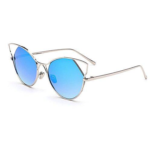Gafas Sol Eyes Beach UV Aire Libre Adecuado de C5 Metal para protección C4 Traveling Lentes Graceful Conducir Lady'S Diario Cat espejados al Uiophjkl Color Uso Planos para de Frame qz1T8qPw