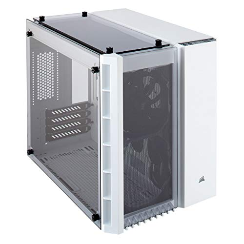 CORSAIR CRYSTAL 280X Micro-ATX Case, Tempered Glass – White – CC-9011136-WW