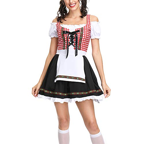 Aamoa Bavarian bar Maid Costume Women's Short