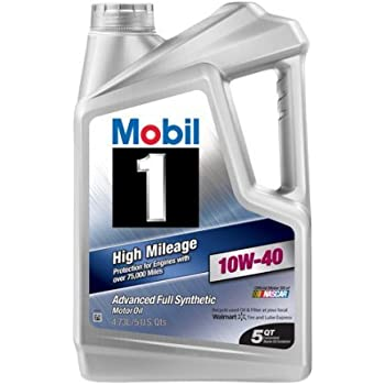 mobil 1 10w 40 high mileage full synthetic. Black Bedroom Furniture Sets. Home Design Ideas