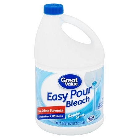 Great Value Easy Pour Bleach, Regular Scent, 121 fl oz - Pack of 10 by Great Value (Image #3)