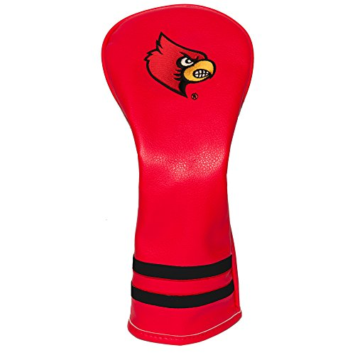 Team Golf NCAA Louisville Cardinals Vintage Fairway Golf Club Headcover, Form Fitting Design, Retro Design & Superb Embroidery