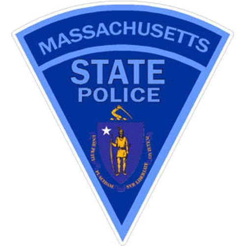 MAGNET 4 Inch Massachusetts State Police Magnetic Sticker Decal Size: 4x4 (State Police Decals)