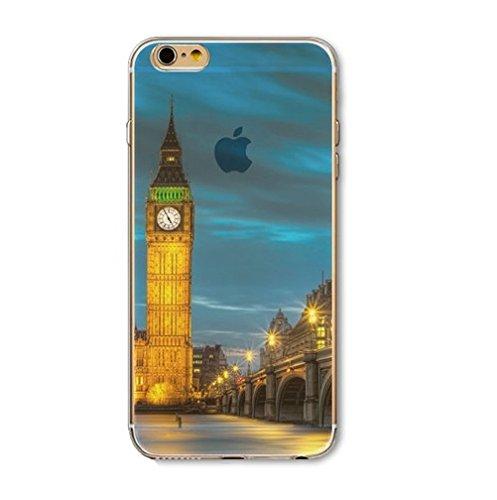 Coque silicone souple iphone 6 et 6S , TPU , londres , Big Ben , angleterre
