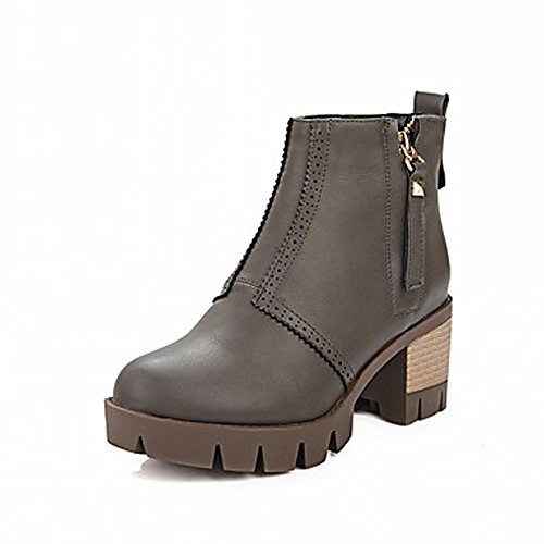 Sella Combattere western Boots Stivali Donna Zhudj Moto Snow Moda Cowboy Bootie Gray Comfort acYqcyT