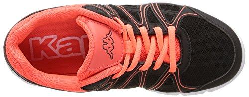 Kappa Ulaker - Zapatillas de deporte interior Unisex Niños Negro - Noir (Black/Red Coral)