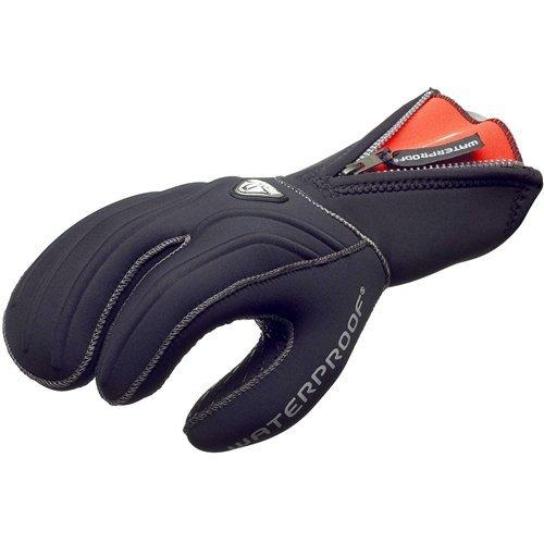 Glove 7mm Mitt Finger Three - Waterproof G1 7mm 3-Finger Semi-Dry Gloves, Large