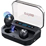 Otium Wireless Earbuds Bluetooth 5.0 Headphones with Digital Intelligence LED Display 3500 mAH Charging Case 135H Playtime Stereo Sound Headset IPX7 Waterproof Built-in Mic for Driving/Work/Sports