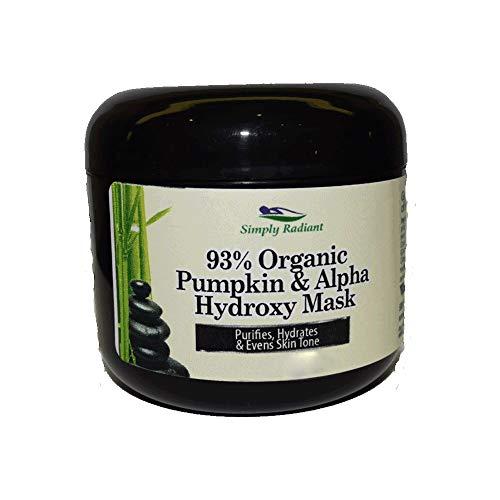Organic Pumpkin Enzymatic Face Mask w Alpha Hydroxy Acid Increases Firmness, Clarity & Reduces Sagging 2 oz.