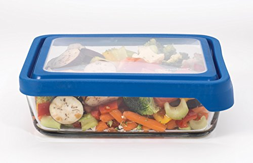 Anchor Hocking 11 Cup Rectangular Food Storage Container, Blueberry