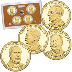 2013-S Proof Presidential Dollar 4-coin Set - NO BOX