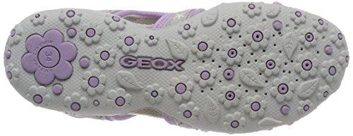 Geox Jr Sandal Roxanne C - Sandalias Deportivas Niñas Grau (Lt Grey/Lilac)