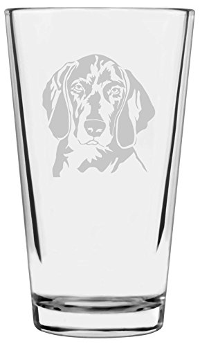 Weimaraner Dog Themed Etched All Purpose 16oz Libbey Pint Glass