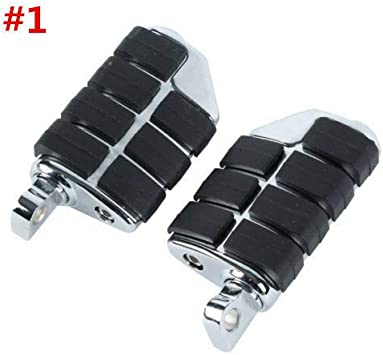 TCMT Highway Pegs Fit For Harley Softail Sportster Electra Road Glide Road King Street Glide with 1.25 Engine Guard 1 1//4 Highway Bar