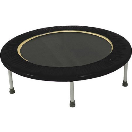 Gold's Gym Leisure Outdoors Sports & Fitness Mini Trampolines with Safety Pad -Black (Beginner Rebounder Dvd)