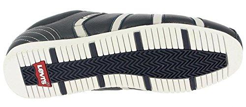 Levi's Almayer Gris Marina Blanco Hombres Cuero Zapatos