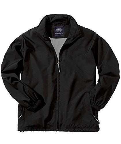 Charles River Apparel Men's Triumph Jacket, Black, - Jacket Black Lightweight Nylon