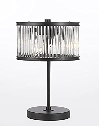 Crystal Rod Iron Table Lamp 1920s Essex Contemporary Modern, Desk Lamp ,Bedside,Living