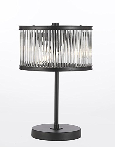 Crystal Rod Iron Table Lamp 1920s Essex Contemporary Modern, Desk Lamp,Bedside,Living Room,For Bedroom,Buffet (Contemporary Buffet Lamps)