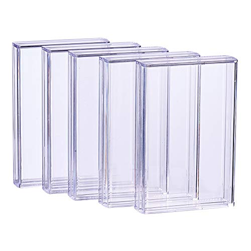 9ct Box (BENECREAT 9 Pack Rectangle High Transparency Plastic Bead Storage Containers Box Drawer Organizers for Beauty Supplies,Tiny Bead,Jewerlry Findings, and Other Small Items - 3.5x2.36x0.7 Inches)