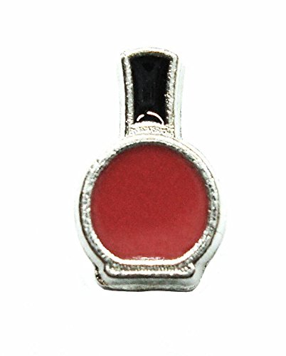 Cherityne Red Nail Polish Floating Charm for Locket Pendants (Shell Pendant Polish Shells)
