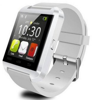 U8 Bluetooth Smart Watch Phone WristWatch for IOS Android iphone/Samsung/HTC (White) - 1