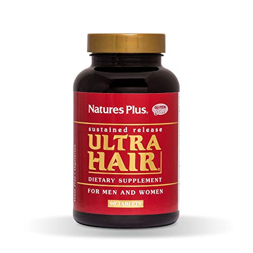 NaturesPlus Ultra Hair, Sustained Release – 90 Vegetarian Tablets – Natural Hair Growth Supplement for Men Women – Longer, Thicker Hair – Gluten-Free – 45 Servings