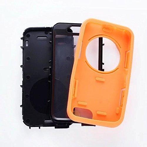"""Iphone 6 Coque,Iphone 6S 4.7 """"Coque,Lantier 3 en 1 en caoutchouc dur + Hybrid PC Combo robuste avec Annulaire Béquille Protect pour Apple Iphone 6/6S 4.7"""" Orange"""