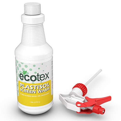 Ecotex PLASTISOL Screen WASH - in Sink Screen Wash/Ink Degradent for Screen Printing Environmentally Friendly (Quart)