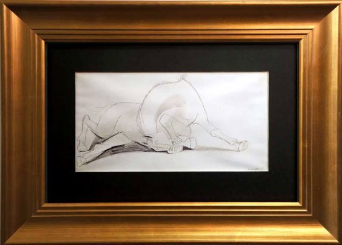Picasso Original Lithograph - Horse Study (I) - Preparatory drawing for Guernica