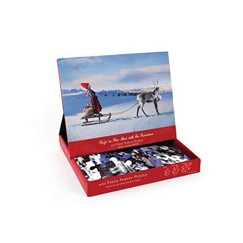 - DEMDACO Seasons Anja on Sled with Reindeer 400 Pc Puzzle