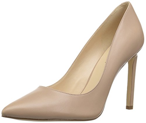 Nine West Women's Tatiana Leather Pump, Natural, 7.5 M US