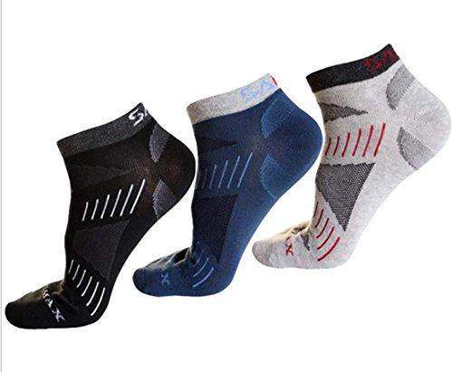 奨励メドレー口述ココカウ メンズソックス多機能アウトドアスポーツソックス、遠足徒歩オフロード 登山発汗通気運動綿の靴下 抗菌 防臭 3足セット